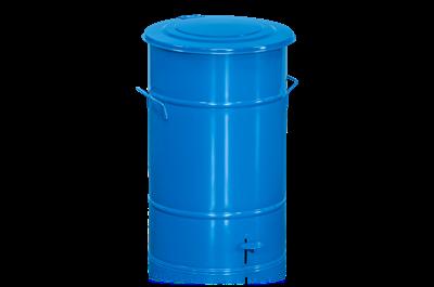 Abfallbehälter 70 l mit Fußpedal Blau