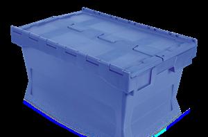 Förvaringslåda med integrerat lock 39 L Blå