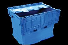 Förvaringslåda med integrerat lock 58 L Blå
