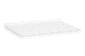 Plåthyllplan Perforerad 600x400 mm Vit