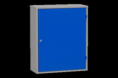 Materialschrank inklusive 4 Regalböden Grau und Blau 800 mm