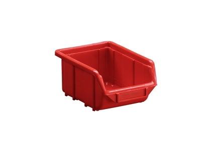 Plastback 110x160x80 mm Röd 1 l