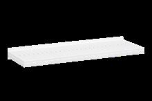 Plåthyllplan Perforerad 900x300 mm Vit