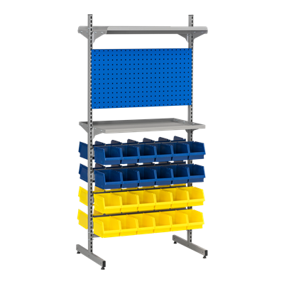 Complete T-Rack 4 including 48 Plastic Bins