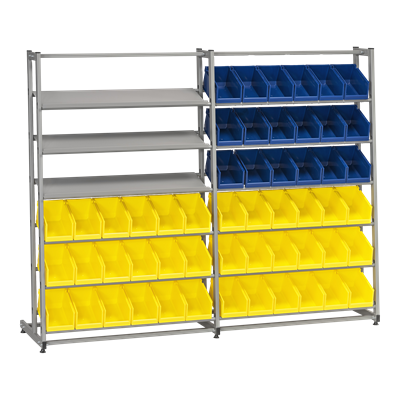 Complete Bin Rack HD 300/3 including 54 Plastic Bins