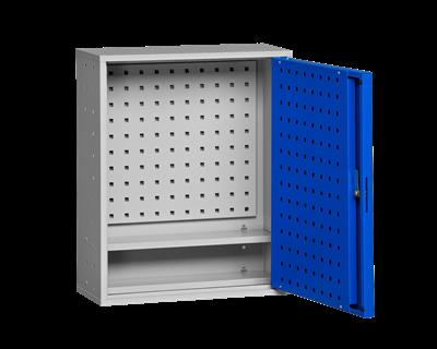 Werkzeugschrank inklusive Lochrasterplatte 580 mm Grau/Blau