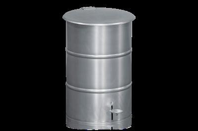 Avfallsbehållare 30 l inklusive Fotpedal Galvaniserad