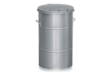 Avfallsbehållare 115 l Galvaniserad
